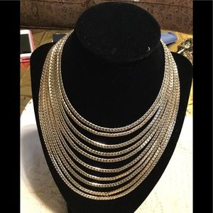 Multi length gold necklace
